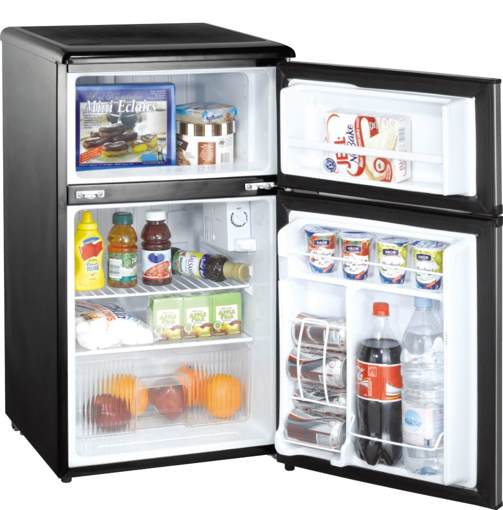 Energy efficient microwave frige combo microchill for Small room fridge